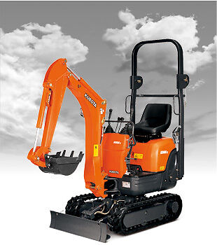 Kubota K008 1.0 Tonne Mini Excavator Hire $230 a Day - Metro Delivery Available