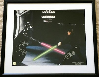 Mark Hamill & Dave Prowse signed autographed Star Wars 16x20 photo poster FRAMED