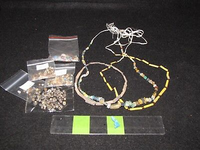 Over 500 Ancient Egyptian beads and a few Egyptian necklaces.