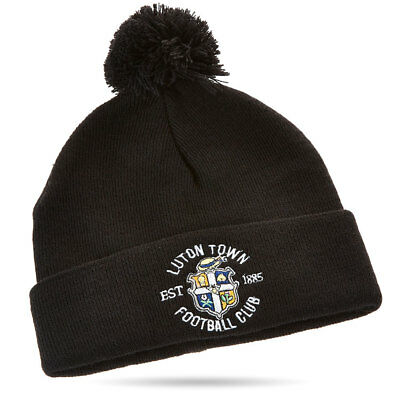 Luton Town Black Essential Bobble Hat