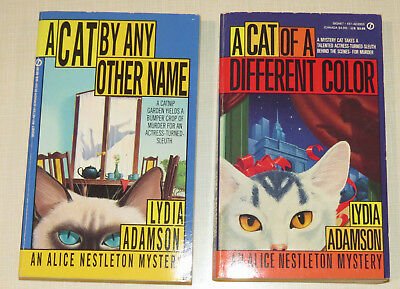 Lot of 2 by Lydia Adamson, A Cat of a Different Color, A Cat By Any Other Name