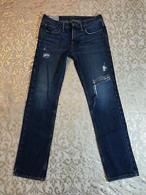 Boys Abercrombie A&F Low Rise The SKINNY Distressed Jeans! 16 x 29 GUC!