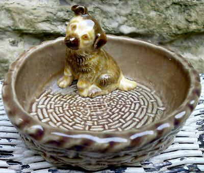 Wade German Shepherd Puppy Dog in Basket Figurine