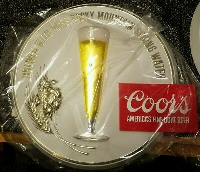 """NEW OLD STOCK 1977 COORS BEER 14"""" Bar Tavern Mancave Wall Sign Advertising"""