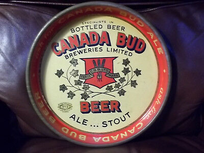 1940s Canada Bud Beer Tray. Rare, VG Condition. Take a look!!