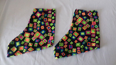 Ice/roller Skating Lycra Boot Covers - Uv/fluorescent/glow In The Dark