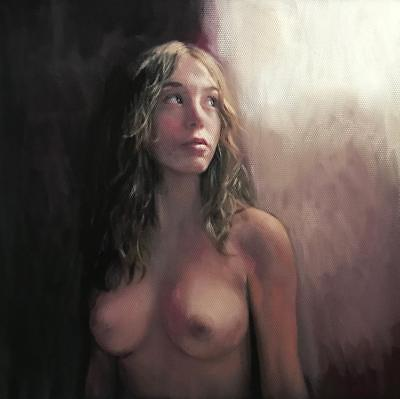 NEW ORIGINAL WILLIAM OXER Gentle Awakening young girl woman sexy pretty PAINTING