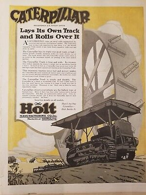 Caterpillar The Holt Manufacturing Co 1913-16 The Country Gentleman 3 print ads