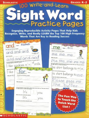 100 Write-and-Learn Sight Word Practice Pages: Engaging Reproducible Activity Pa