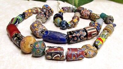 Vintage Venetian Millefiori African Trade Beads (Restring Necklace) RARE BEADS!!