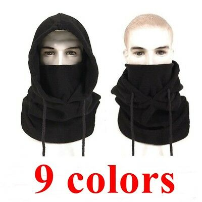 Balaclava Hood Thermal Fleece Winter Ski Mask Hat Scarf Police Caps Neck Warmer