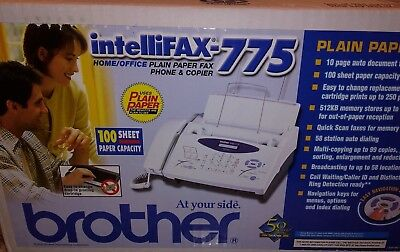 NIB Brother Intellifax-775 Home/Office Plain Paper Fax Phone & Copier