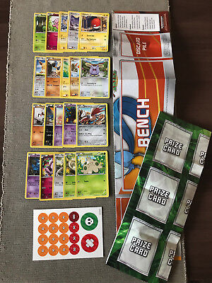 Mint Pokemon Pack 20 Basic Cards Playmats x 2 Damage Counters Card Sheet