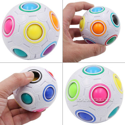 New Sale Fun Magic Fidget Cube Ball Toy Finger Spinner Stress Relief Gyro Gift