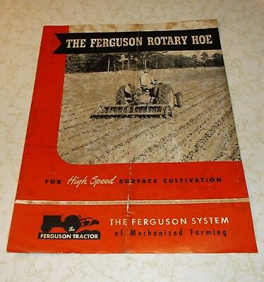 1949 Ferguson Rotary Hoe..for High Speed Surface Cultivation...advertisement