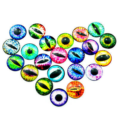 Wholesale Glass Cat Dragon Eye Dome Cameo Cabochon Time Gem DIY Jewelry Making