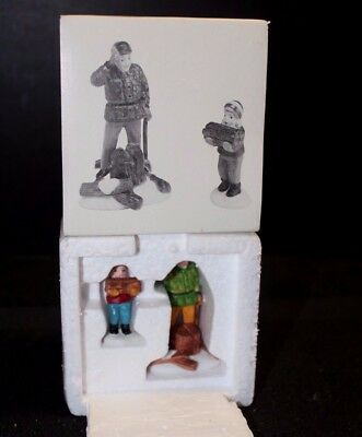 "Dept. 56 Heritage Village Collection ""Wood Cutter and Son"" Set of 2 #5986-2 - EC"