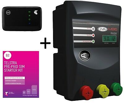 JVA MB16 Mains/Battery Electric Fence IP Energizer® WiFi Telstra Kit - 22 joules