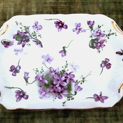 Hammersley English Bone China Victorian Violets Small Plater or Dresser Tray