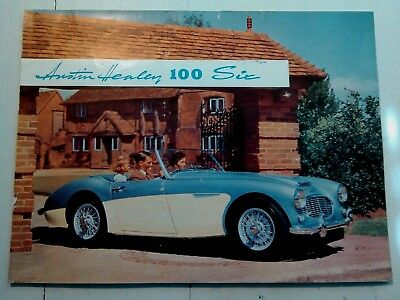 Vintage Car sales Brochure Austin Healey 100 Six
