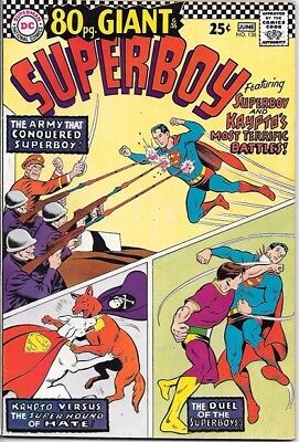 Superboy Comic Book #138 DC Comics 1967 VERY FINE 80 pg. Giant #35