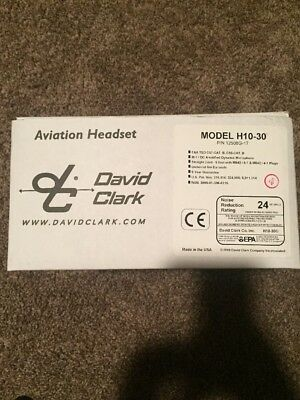 David Clark Aviation Headset H10-30 NIB