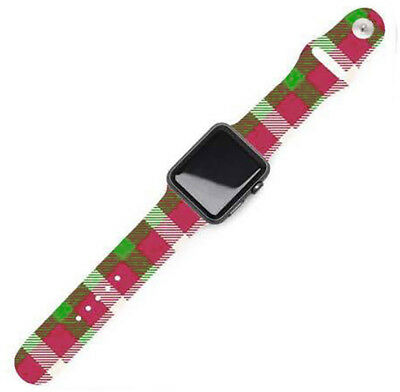 Christmas Replacement Band for 42mm Apple Watch fits Series 1,2,3 - Plaid