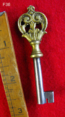 Genuine Ornate Brass Top Antique Skeleton Key Bow - More Rare Old Keys Here