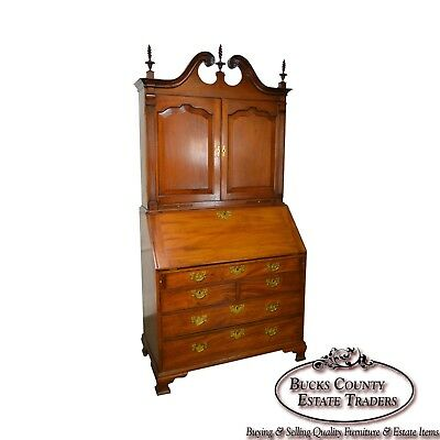 Chippendale Style 18th Century Mahogany Secretary Desk
