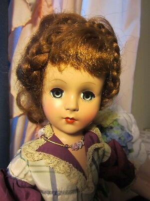 Nancy Anne Style Show Doll  18 inch tall Brunette  1950's  H. Plastic  or A. C.