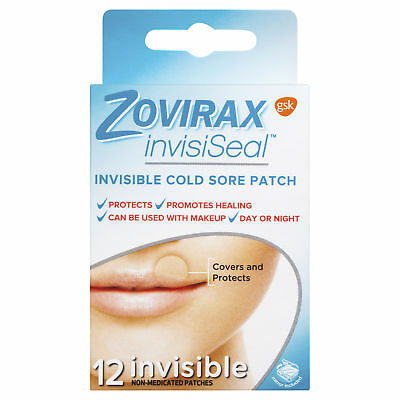 * Gsk Zovirax Invisiseal 12 Invisible Cold Sore Patch Covers Protects Day Night