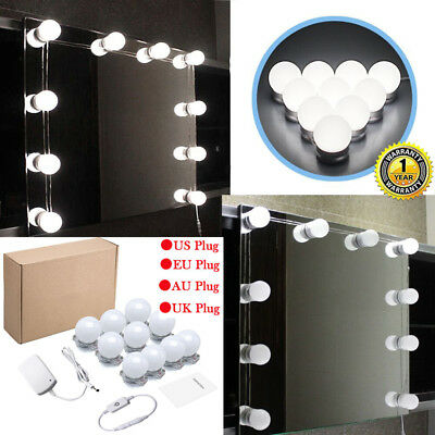 Vanity LED Mirror Light Kit for Makeup Hollywood Mirror with Light Stage 10 Bulb