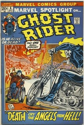 MARVEL SPOTLIGHT #6 1972 VF- 2ND GHOST RIDER Origin Retold SATANS SERVANTS INTRO