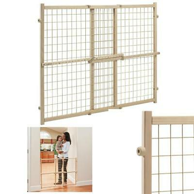 Baby Safety Gate Wood Fence Pet Walk Thru Child Door Dog Cat Protection 32 Inch