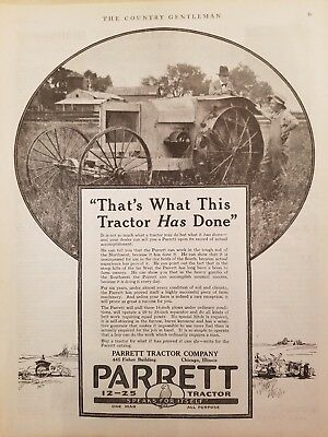Parrett Tractor Company 1916-1919 The Country Gentleman 6 print ads
