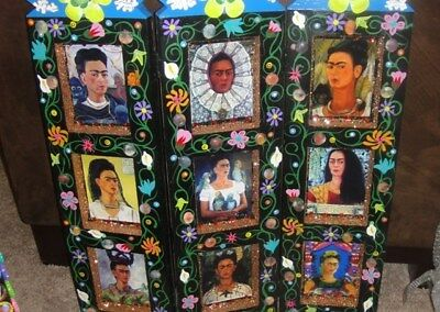 Hand Crafted Decoupage Frida Kahlo Heavy SmallScreen Can't Ship Sorry