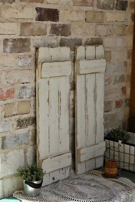 White Distressed Farmhouse Shutters