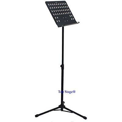 Lectern Music Book Stand Portable Adjustable Presentation Podium Black Metal