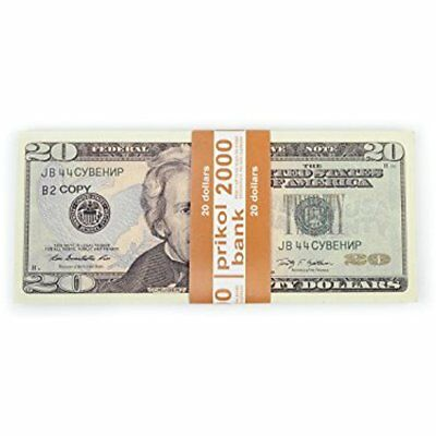 Prop Money 80New 20 Dollar Bill Copy Pranks Advertising Novelty Xmas GIFT NEW