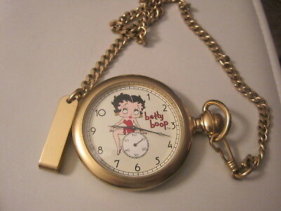 Betty Boop Limited Edition Watch By Fossil Pocket Watch Mat Gold Tone
