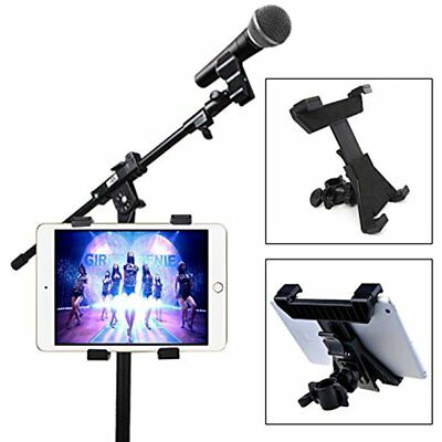 """Universal 7""""-11"""" Tablet Pad Holder For Mic Microphone Stand Bike Bicycle Mount"""
