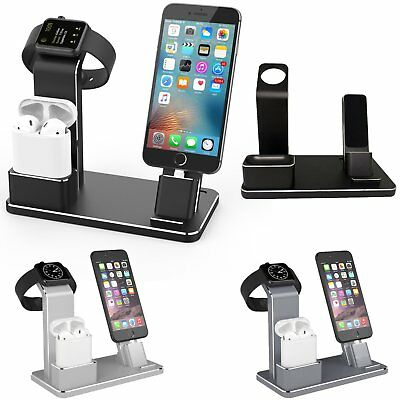 4in1 Aluminum Charger Dock Stand Holder Charging for Apple Airpods iWatch iPhone
