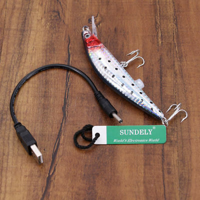 Brand New Rechargeable Twitching Fishing Lures Bait USB Recharging Cords AU