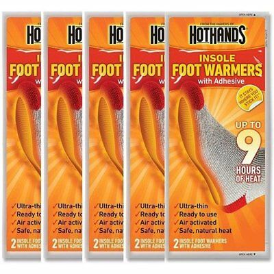 New Hothands Insole Foot Warm Warmer 5 Pair Value Pack 9 Hours Of Heat Adhesive