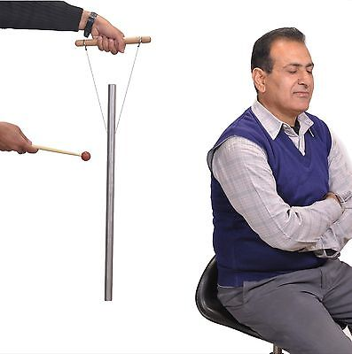 "1 Pipe 528 Hz 21"" for Healing - louder than Tuning fork with Mallet & Hand Stand"