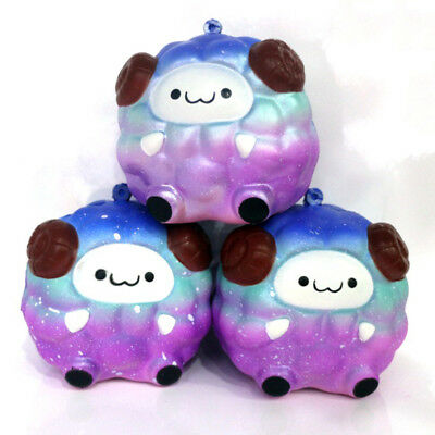 Cute Galaxy Sheep Animals Jumbo Squishy Charms Squeeze Slow Rising Kids Toy Gift