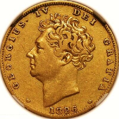1826 George Iv Half Sovereign  Ngc Guaranteed Certified
