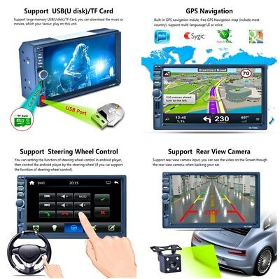7'' HD Touch Car MP5 Player GPS AM RDS Radio Vedio Bluetooth Music for Android