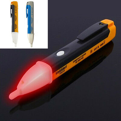 New AC Non-Contact Electric Voltage Alert Detector Tester Test Pen 90~1000 UK