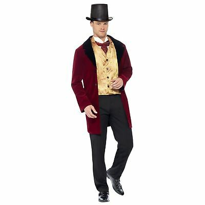 Adult Mens Deluxe Old Edwardian Gent Medieval Victorian Fancy Dress Costume Suit